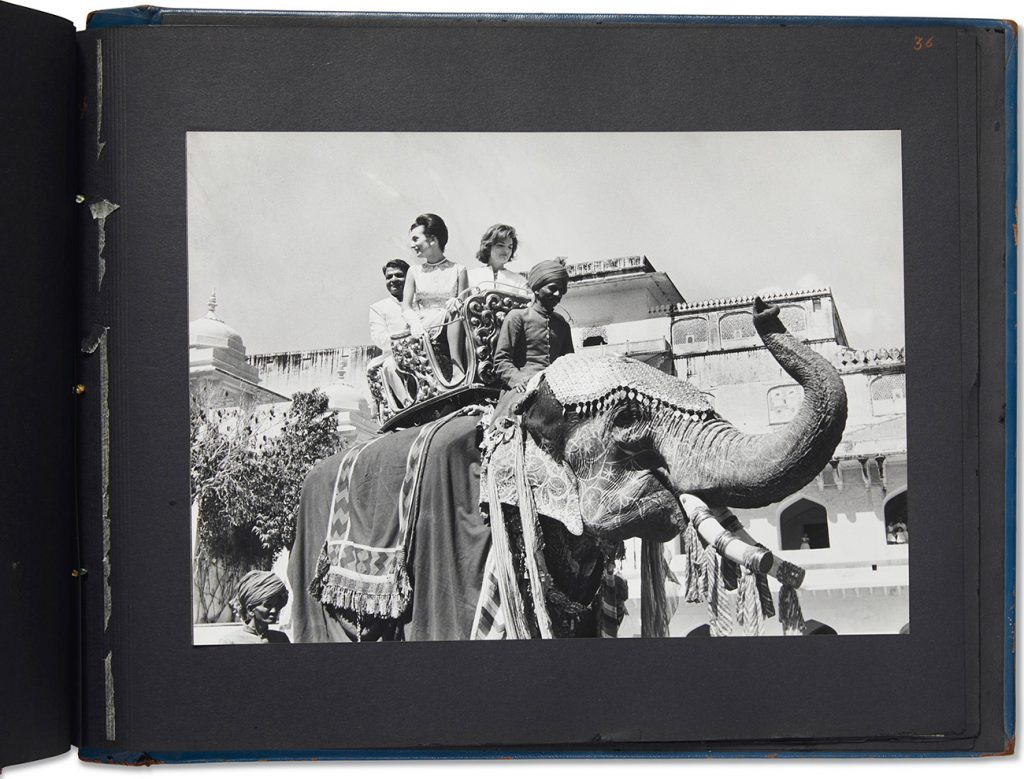 The bound photo book Visit of Mrs. John F. Kennedy to India, March 1962.