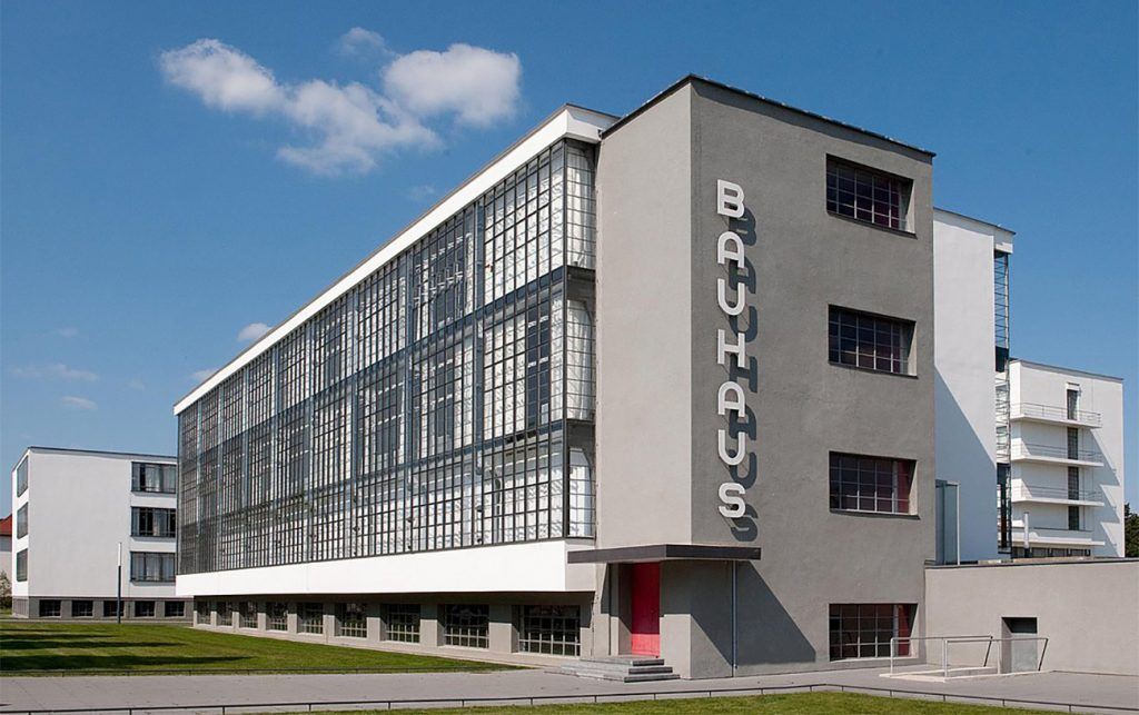 The Bauhaus Building in Dessau, Germany.