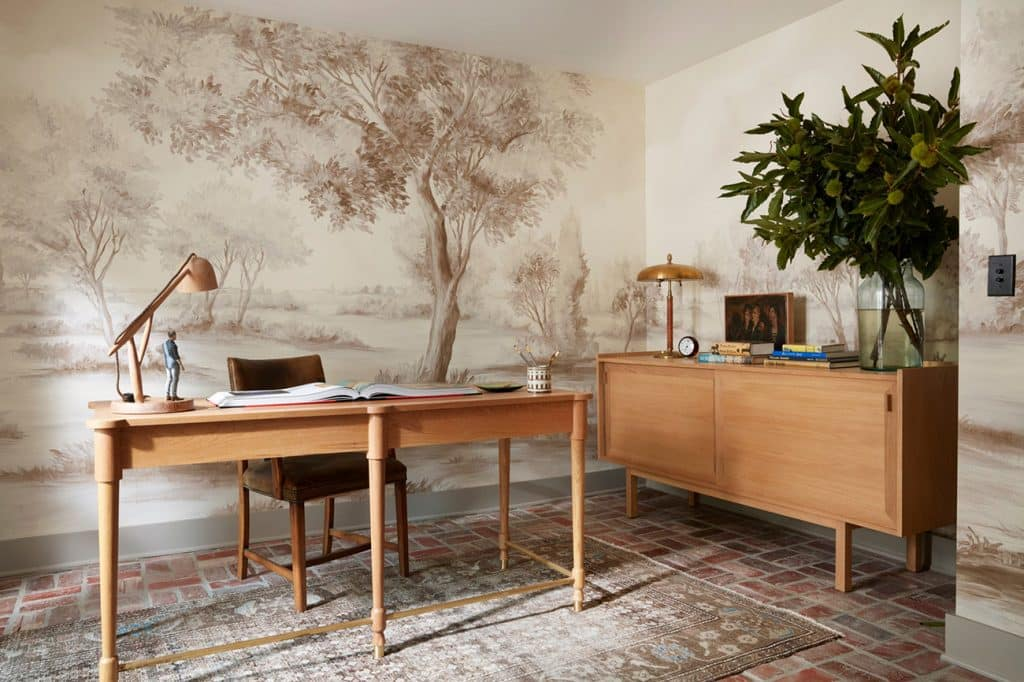 This Los Angeles home office by Nickey Kehoe Design embodies the spirit of ikigai.