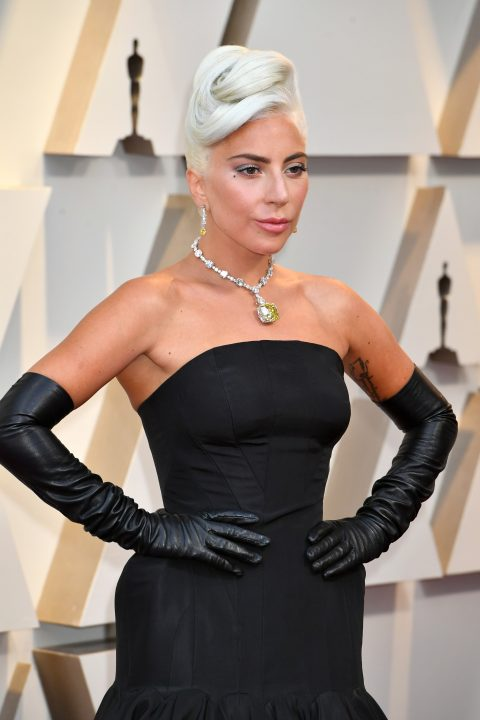 Lady Gaga wearing the Tiffany Diamond at the 91st annual Academy Awards.