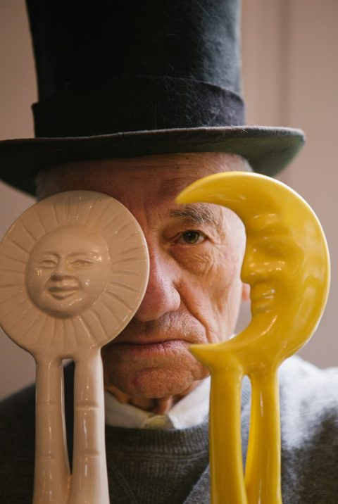 Pedro Friedeberg with sun and moon figures