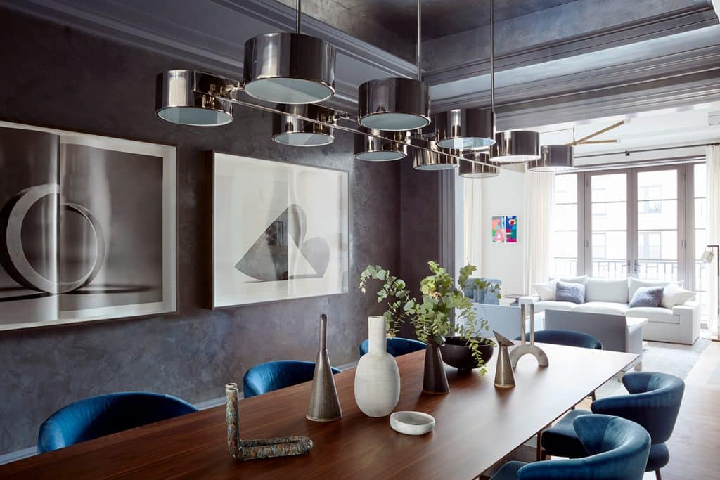 Meyer Davis Manhattan duplex dining room