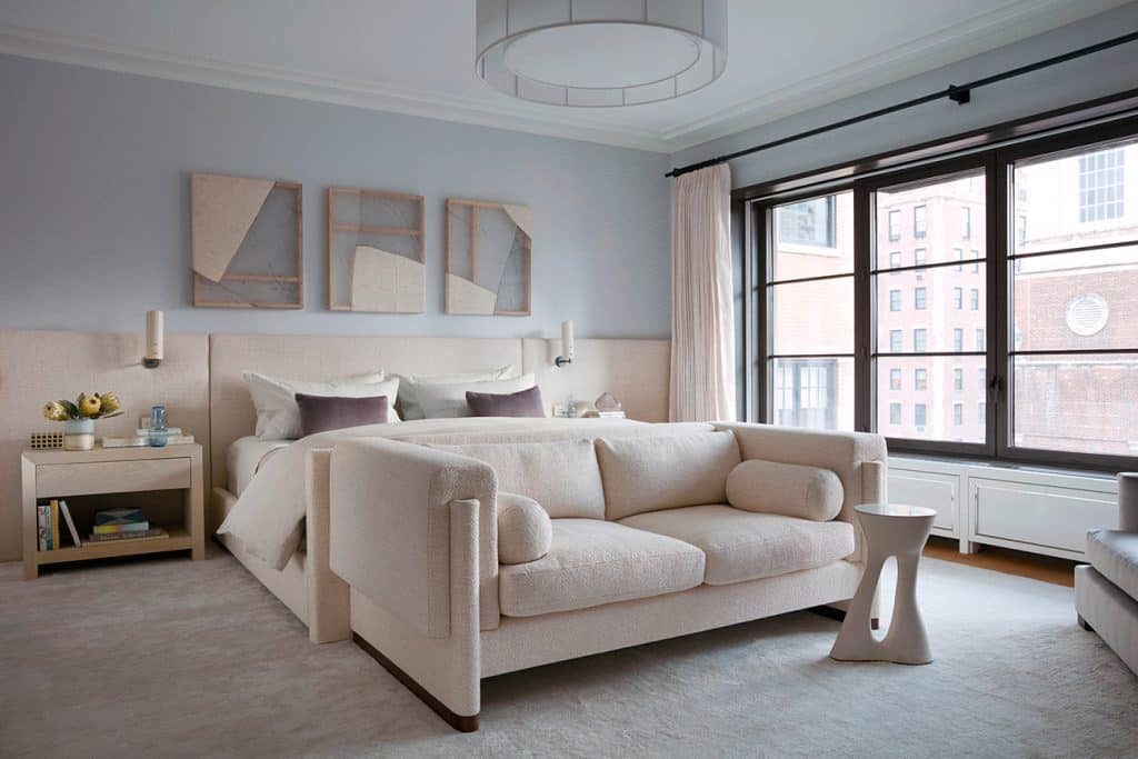 Meyer Davis Manhattan duplex master bedroom