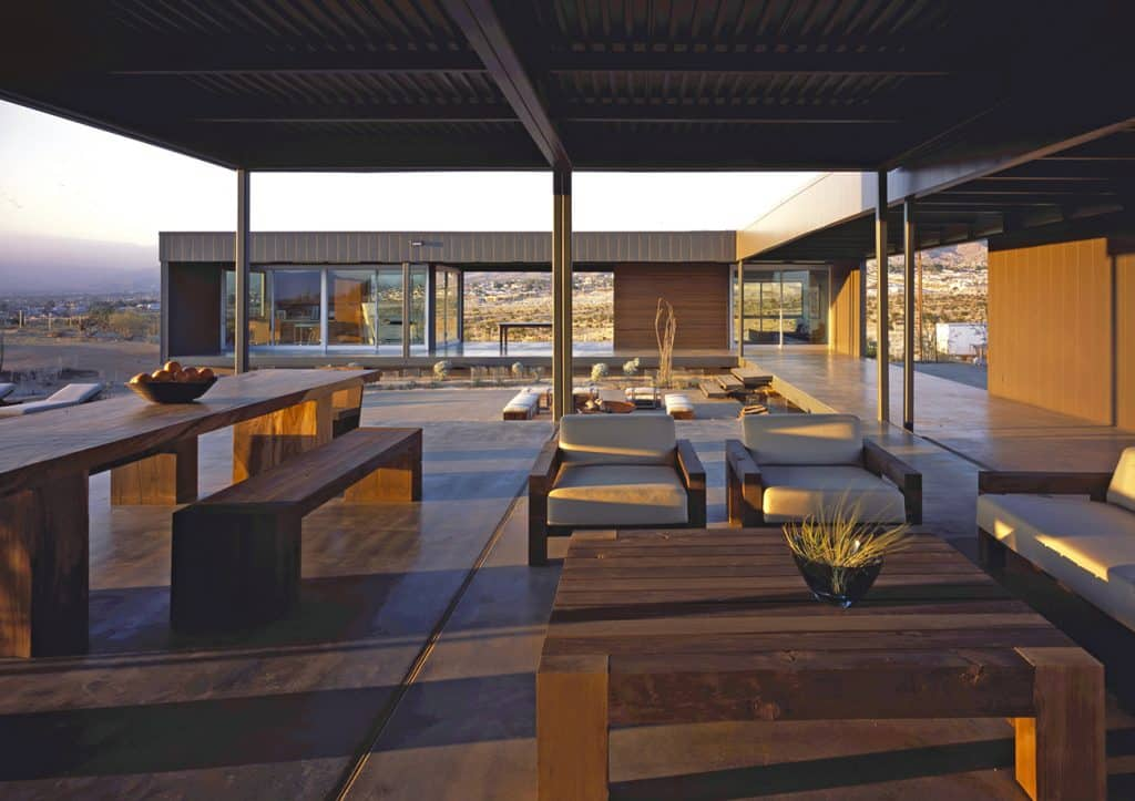 Site: Marmol Radziner in the Landscape Desert Hot Springs California house patio covered porch terrace