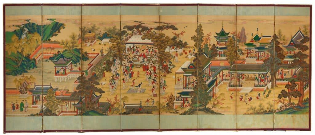 Mario Buatta Chinese screen