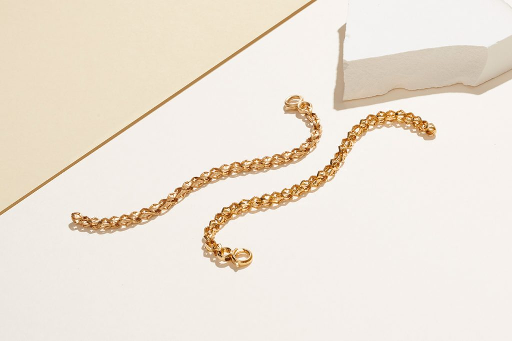 Stephen Webster Crosslink yellow gold bracelets