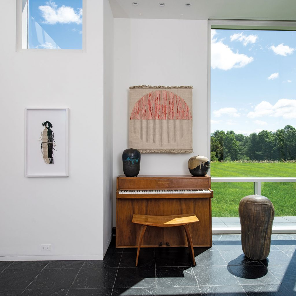 Louis and Sandy Grotta Richard Meier house piano
