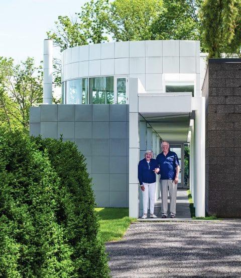 Louis and Sandy Grotta portrait Richard Meier house