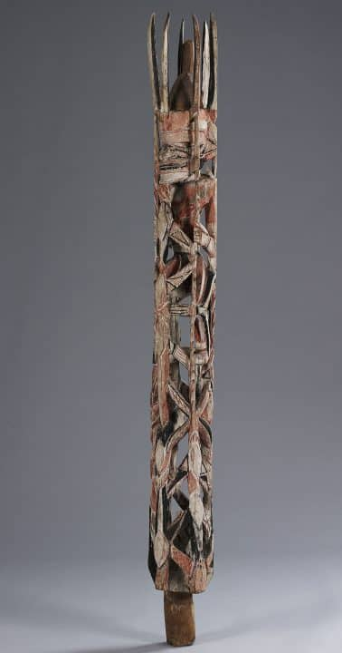Migrating Objects: Arts of Africa, Oceania, and the Americas in the Peggy Guggenheim Collection funerary carving Mandara artist on Tabar Island, Northern New Ireland, Papua New Guinea