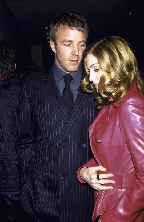 Madonna wore a Stephen Webster Crystal Haze ring on her index finger February 29, 2000
