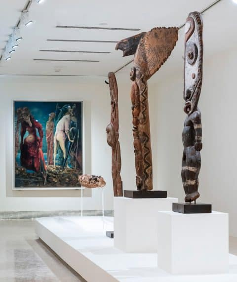 Migrating Objects: Arts of Africa, Oceania, and the Americas in the Peggy Guggenheim Collection ancestral figures architectural element Papua New Guinea