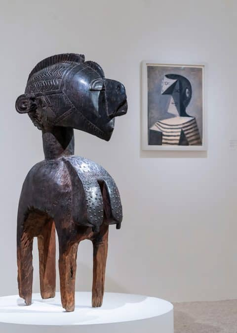Migrating Objects: Arts of Africa, Oceania, and the Americas in the Peggy Guggenheim Collection a D'mba headdress by a Baga artist in Guinea Pablo Picasso portrait