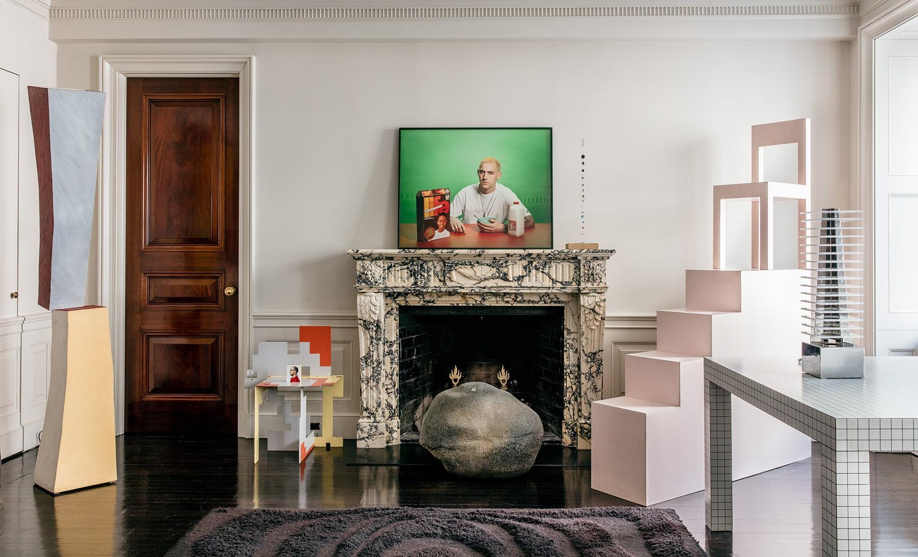 Italian Radical design Museum of Fine Arts Houston Dennis Freedman collection Manhattan apartment living room