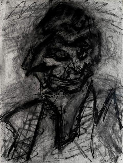 TEFAF Maastricht 2020 Osborne Samuel Gallery London Frank Auerbach's 1980 portrait of JYM