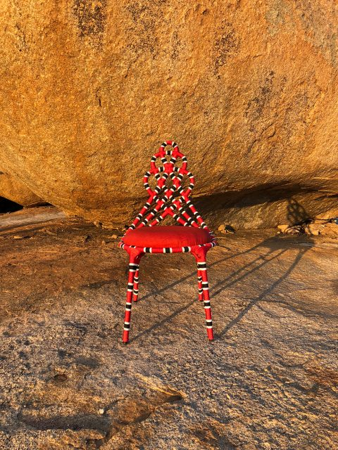 Sergio J. Matos's cobra coral chair, inspired by a native Brazilian snake