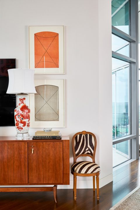 Texas interior design Melissa Morgan M Interiors San Antonio condo credenza