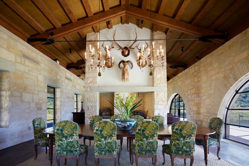 Texas interior design Melissa Morgan M Interiors Medina dining room