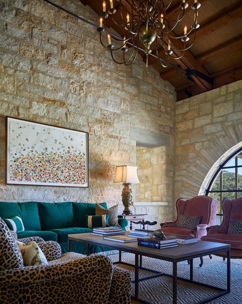 Texas interior design Melissa Morgan M Interiors Medina living room
