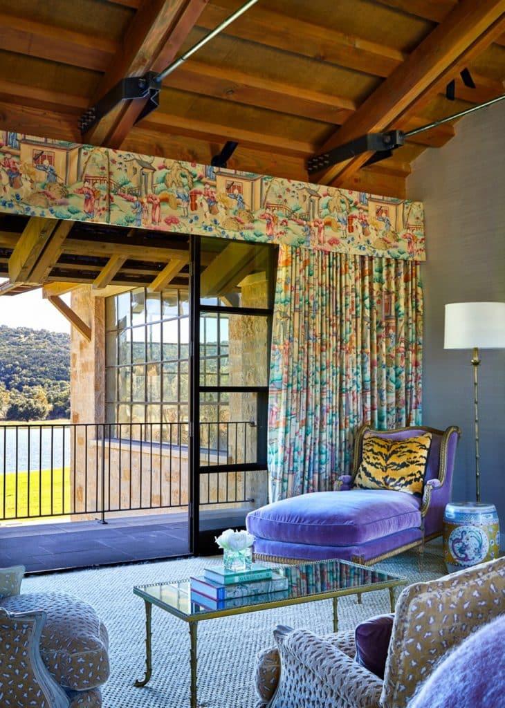 Texas interior design Melissa Morgan M Interiors Medina master bedroom seating area