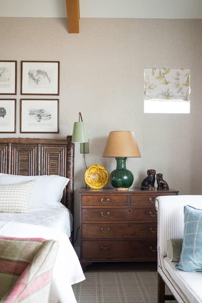 Texas interior design Melissa Morgan M Interiors Fredericksburg guesthouse bedroom