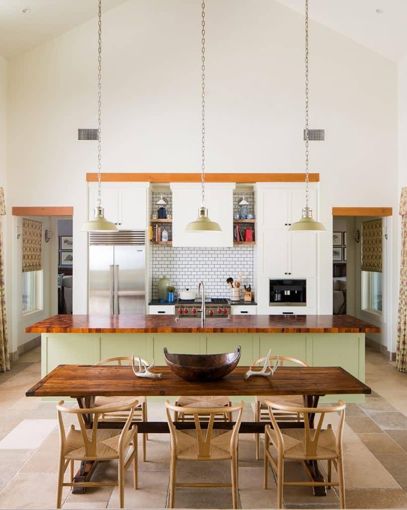 Texas interior design Melissa Morgan M Interiors Fredericksburg guesthouse kitchen