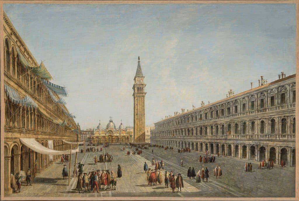 TEFAF Maastricht 2020 Salamon Fine Art Michele Marieschi's circa 1735 view of Venice's Piazza San Marco