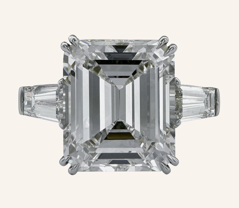Vivid Diamonds  9.17 Carat GIA Certified Emerald Cut Diamond Engagement Ring