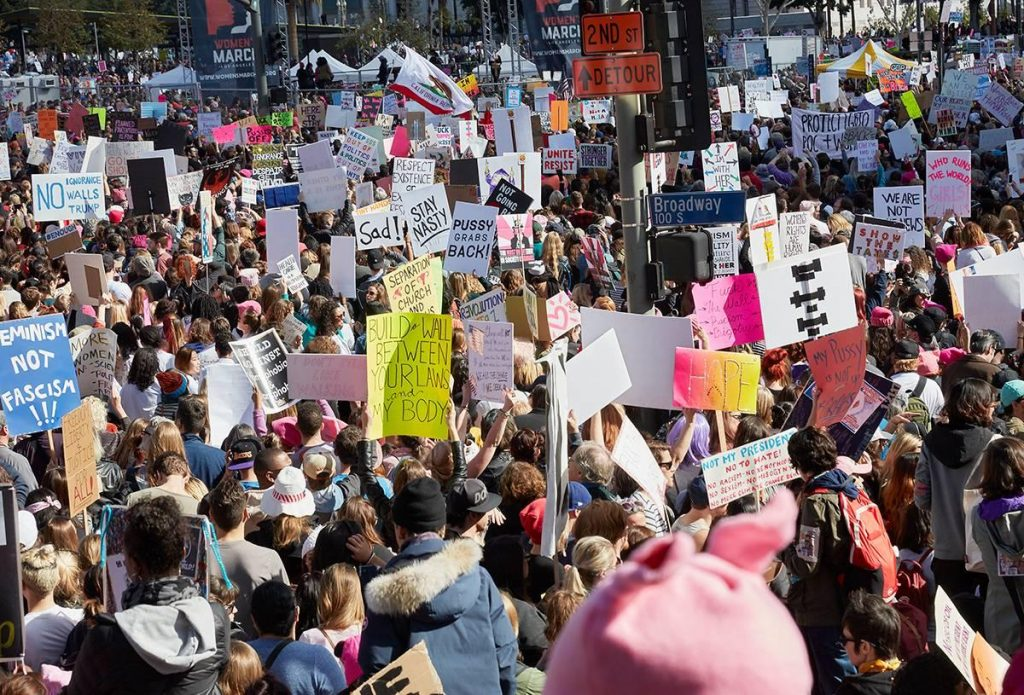 Los Angeles Women's March, 2017, by Catherine Opie