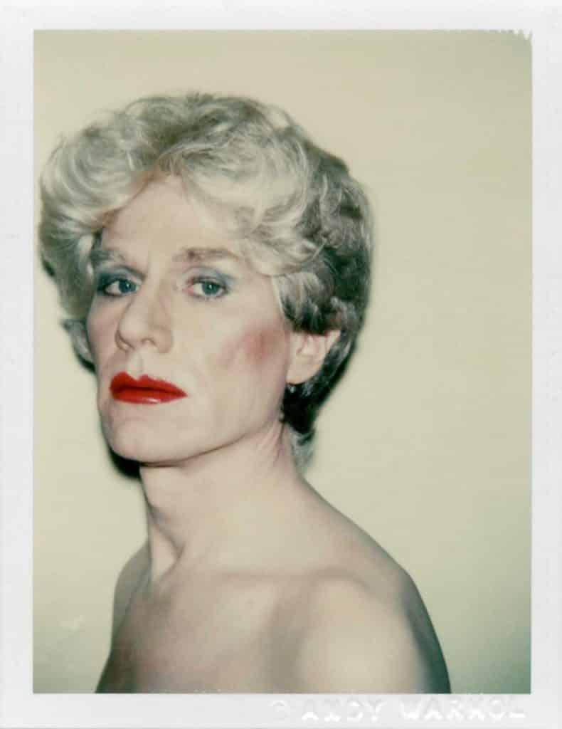 Self-Portrait in Drag, 1981, by Andy Warhol