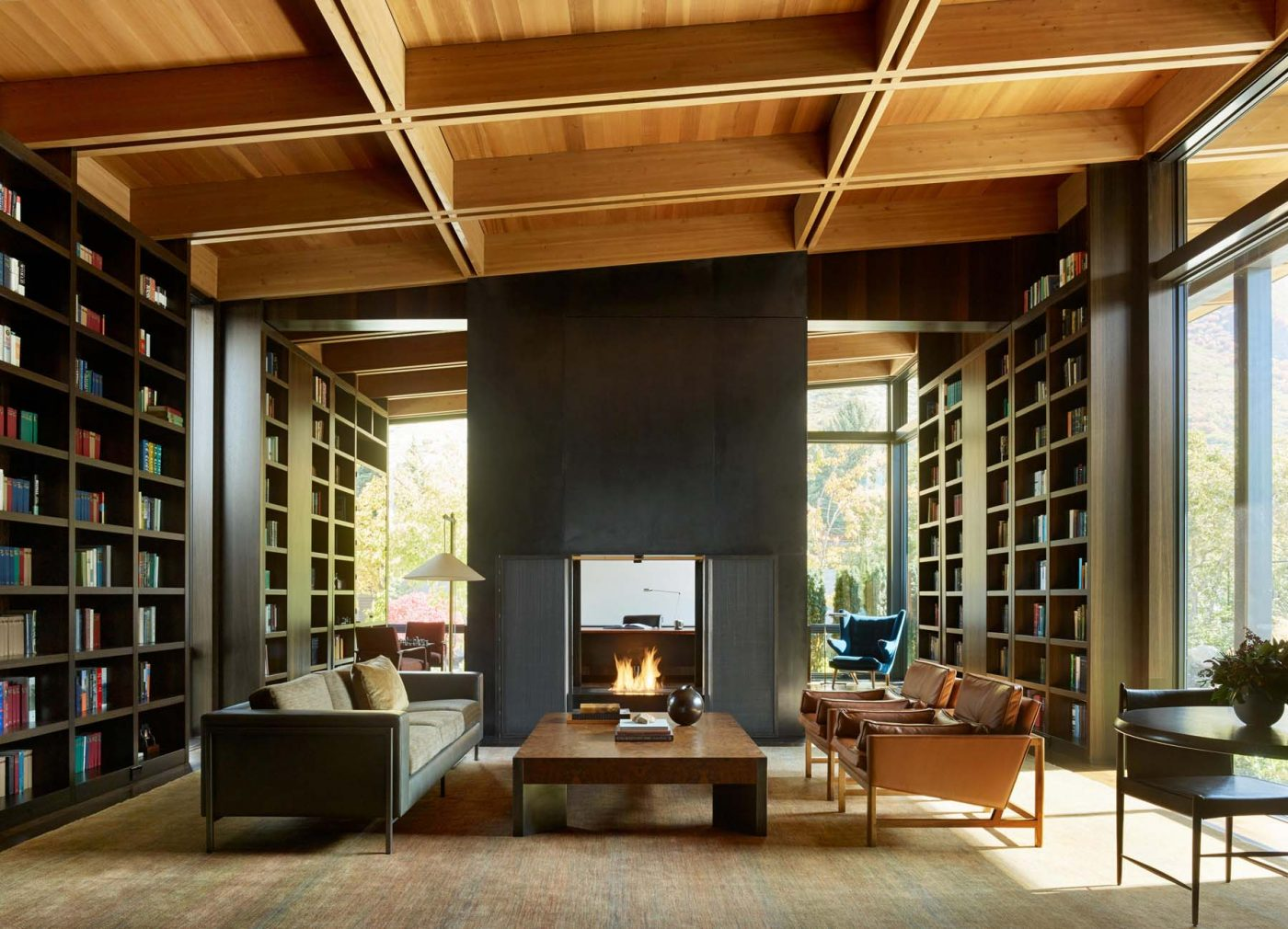 Architect Tom Kundig Olson Kundig Salt Lake City Wasatch House library study home office