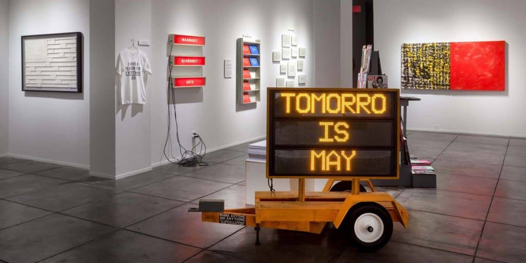 "Skylar Fein's 2019 exhibition ""Two Thousand Words for Students, Artists, Workers, Owners and Everybody,"" at Jonathan Ferrara Gallery."