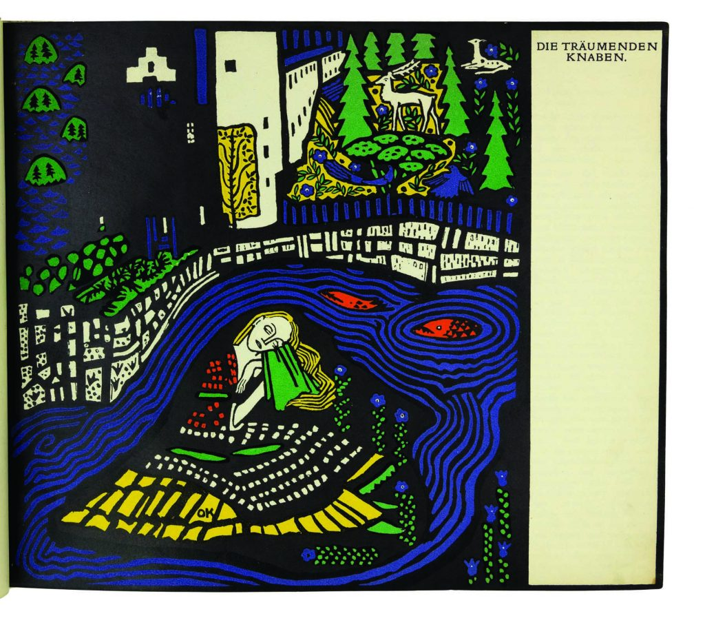 "From Oskar Kokoschka's Die Träumenden Knaben (""The Dreaming Youths""), 1908"
