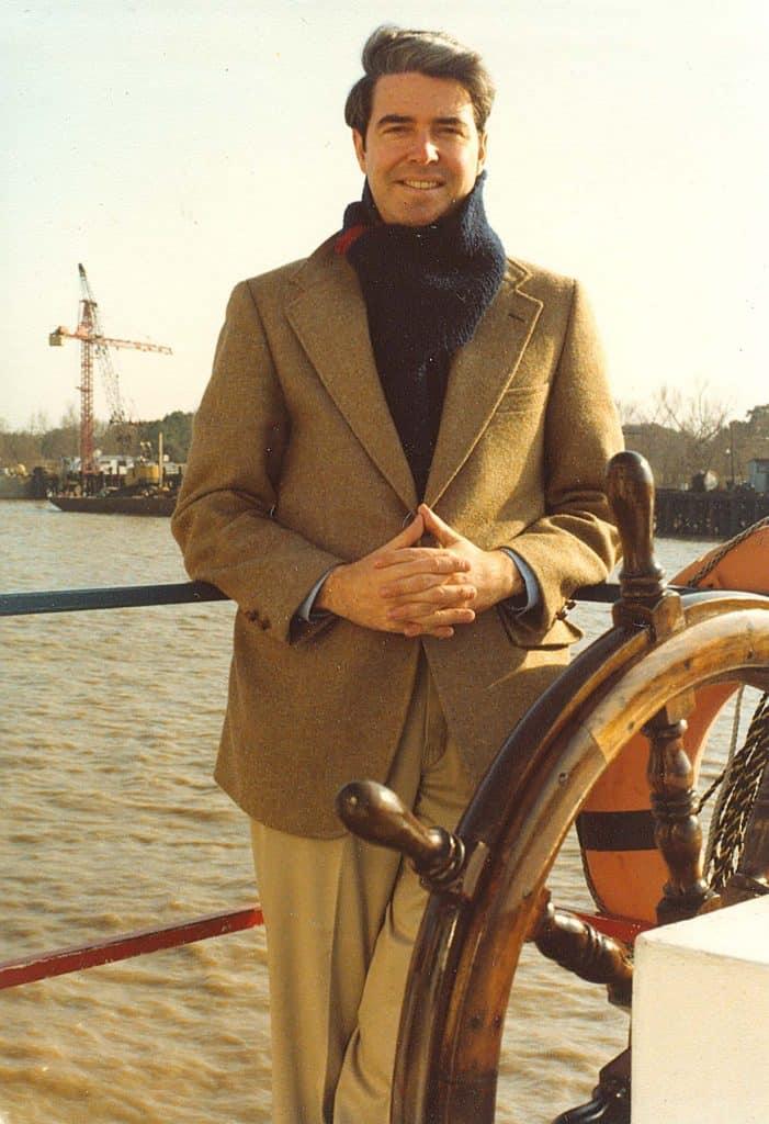 Americana Collector H. Richard Dietrich Jr. portrait boat