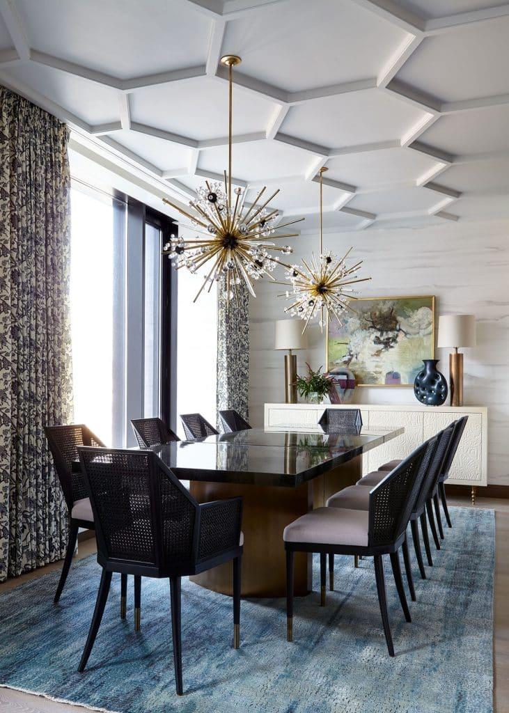 Interior designer Kati Curtis Tribeca dining room