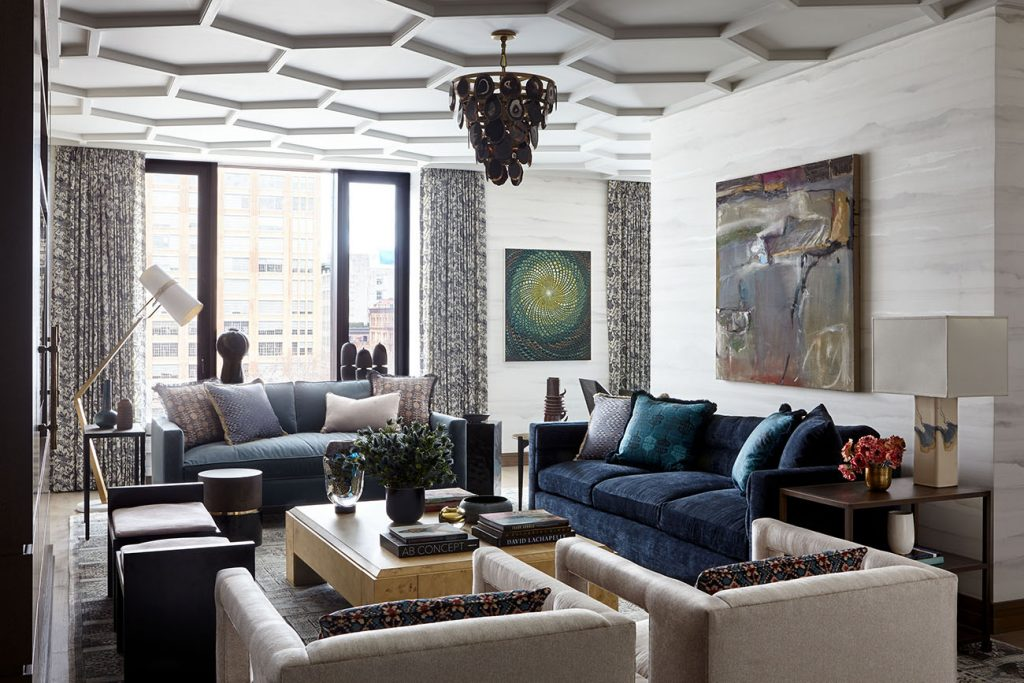 Interior designer Kati Curtis Tribeca living room