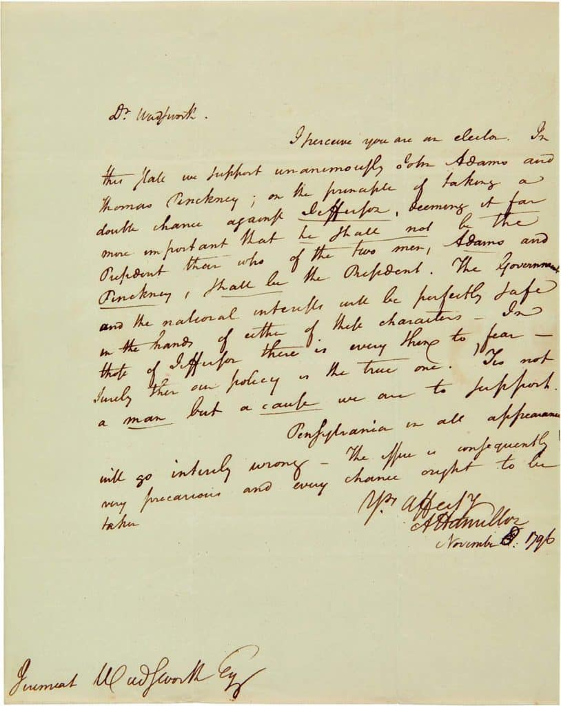 Americana Collector H. Richard Dietrich Jr. A Collector's Vision Philadelphia Museum of Art Alexander Hamilton letter to Jeremiah Wadsworth