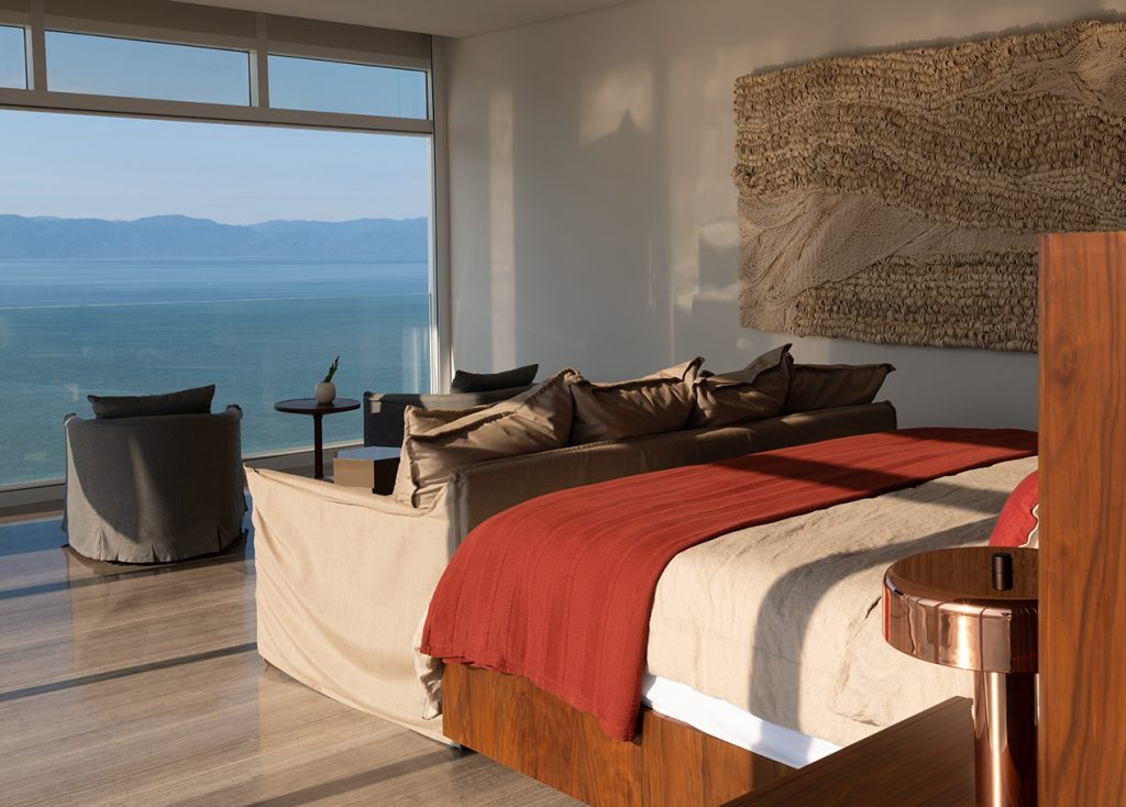 Puerto Vallarta penthouse bedroom Ezequiel Farca and Cristina Grappin Farca + Grappin