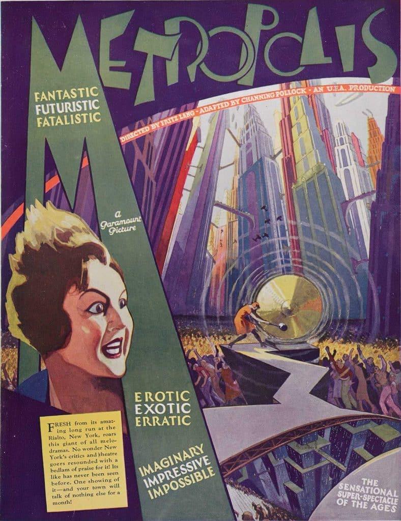 vintage movie poster Fritz Lang Metropolis Art Deco Reel Poster Gallery