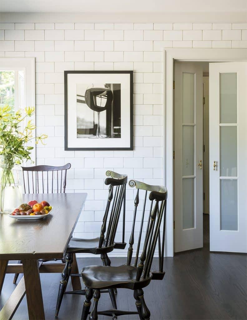 Barbara Sallick's kitchen dining area