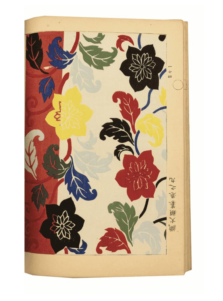 Japanese Textile Books: Orimon Ruizon, 1892