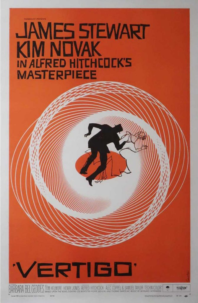 Orson & Welles vintage movie poster Alfred Hitchcock Vertigo