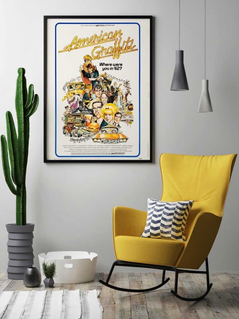 Mort Drucker vintage movie poster American Graffiti Rock Paper Film