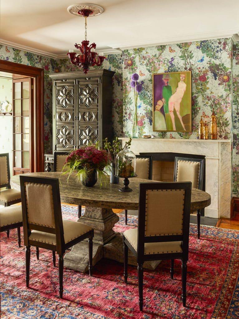 Interior designer Kati Curtis Chelsea dining room