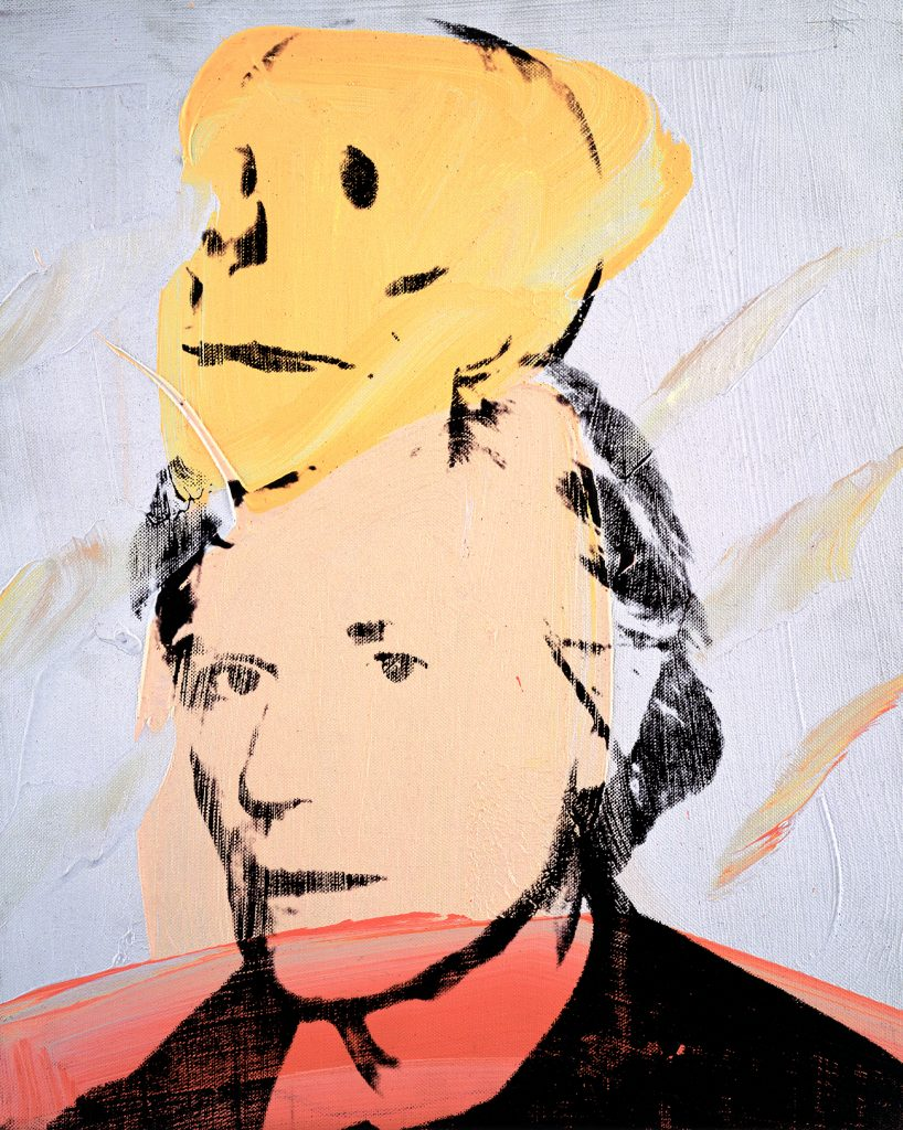 Andy Warhol's Self-Portrait with Skull, 1978
