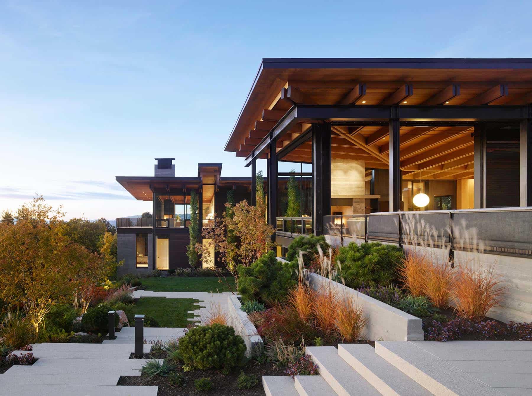 Architect Tom Kundig Olson Kundig Salt Lake City Wasatch House exterior elevation