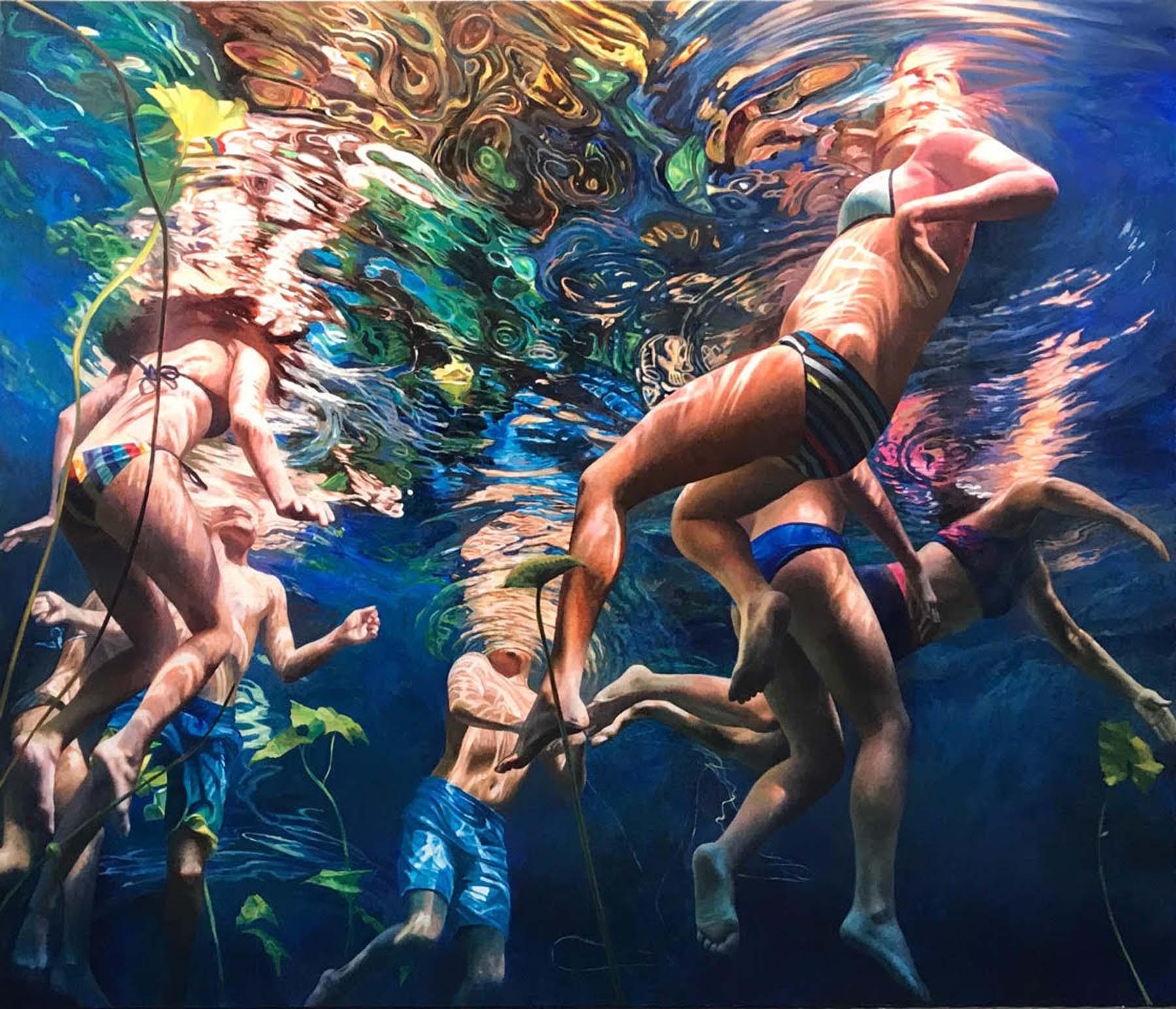 Cenote Azul #40, 2019, by Anne Leone