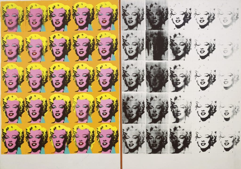 Marilyn Diptych, 1962. All images © The Andy Warhol Foundation for the Visual Arts, Inc. / Artists Rights Society (ARS) New York
