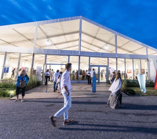 A tent at Market Art & Design, The Hamptons, in Bridgehampton, New York