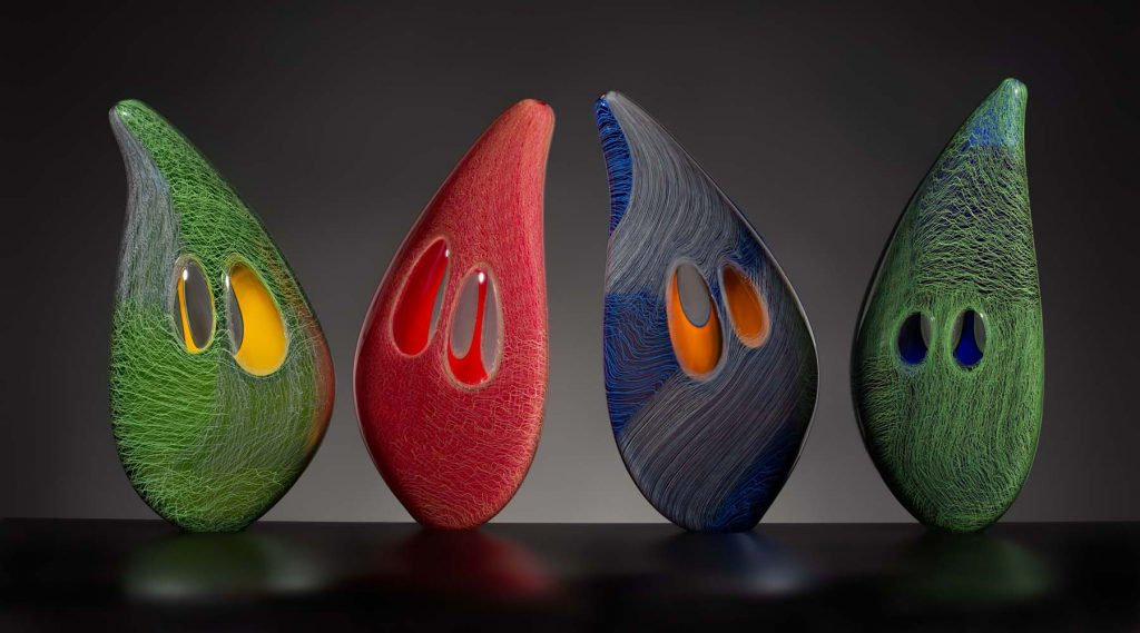 Muscle Grouping, 2020, by glass artist Benjamin Cobb