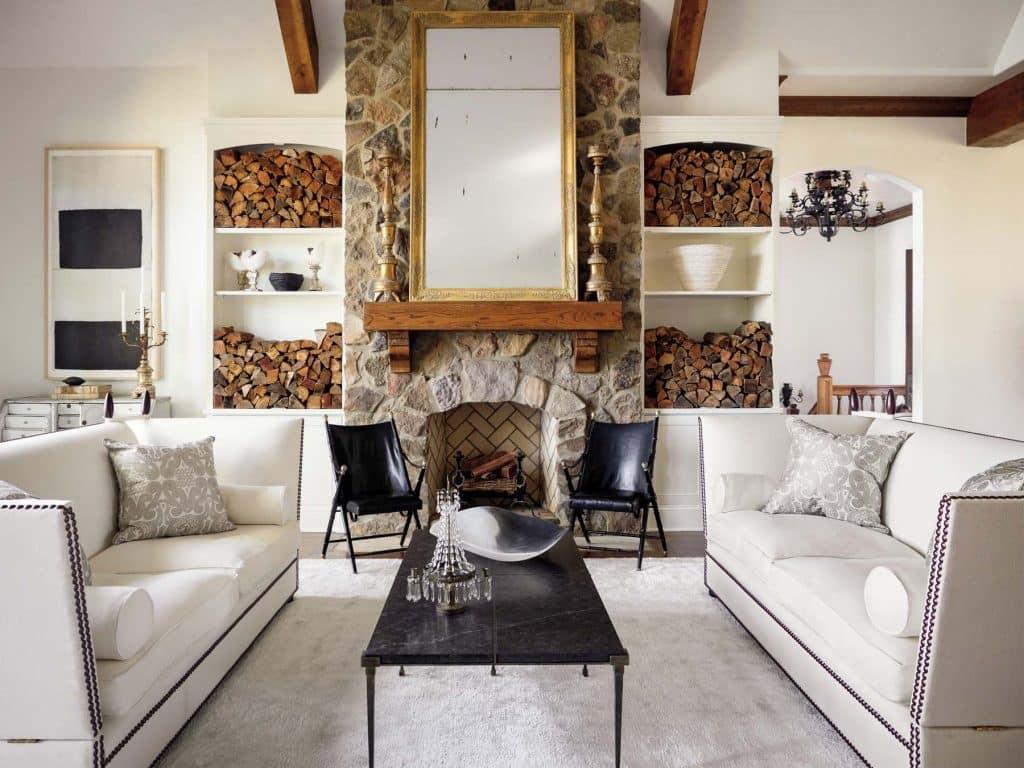 Tara Shaw lake house living room